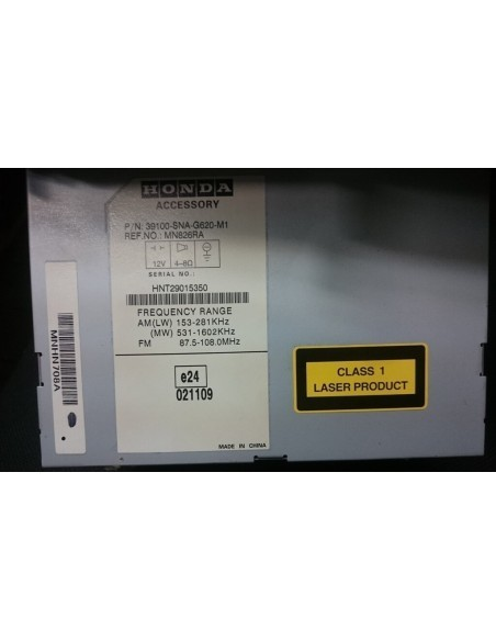 Штатная магнитола Honda Civic 4D 39100-SNA-G620-M1