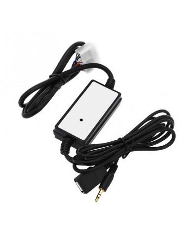 USB AUX адаптер для штатной магнитолы Toyota, Lexus 5x7 pin