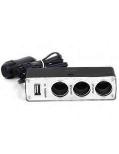 Разветвитель прикуривателя на 3 гнезда с USB ACV RM37-2014