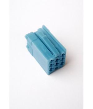 Разъем mini iso синий с пинами