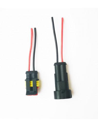 Влагозащищенный разъем на 2 провода