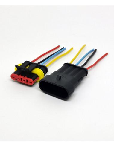 Влагозащищенный разъем на 4 провода