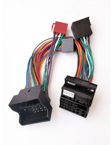 Кабель с iso адаптером для штатной магнитолы BMW, Land Rover