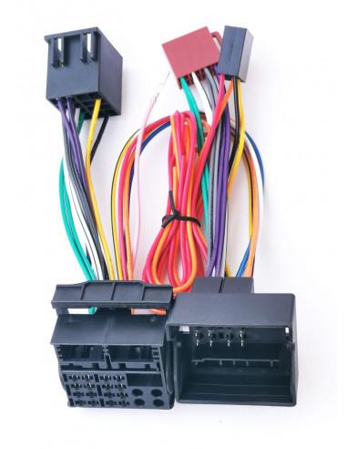 Кабель с iso адаптером для штатной магнитолы VAG Quadlock