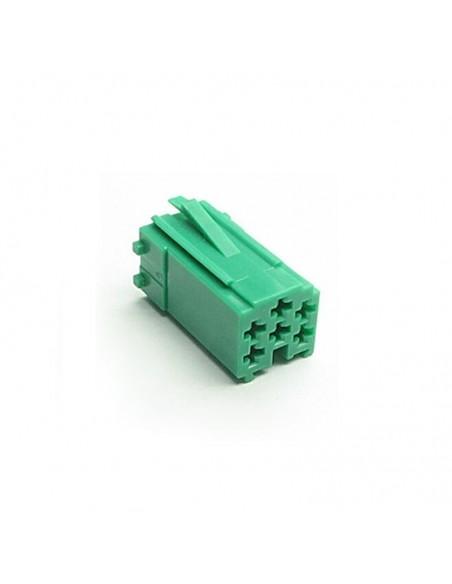 Разъем mini iso зеленый с клеммами